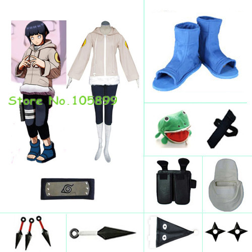 Hinata Hyuga Part I Deluxe Halloween Cosplay Costume set from Naruto