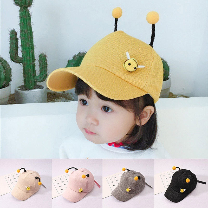 Cute Cartoon 3D Bee Baseball Cap Summer Adjustable Casual Outdoor Sun Hat Boys Girls Hip Hop Cap(China)