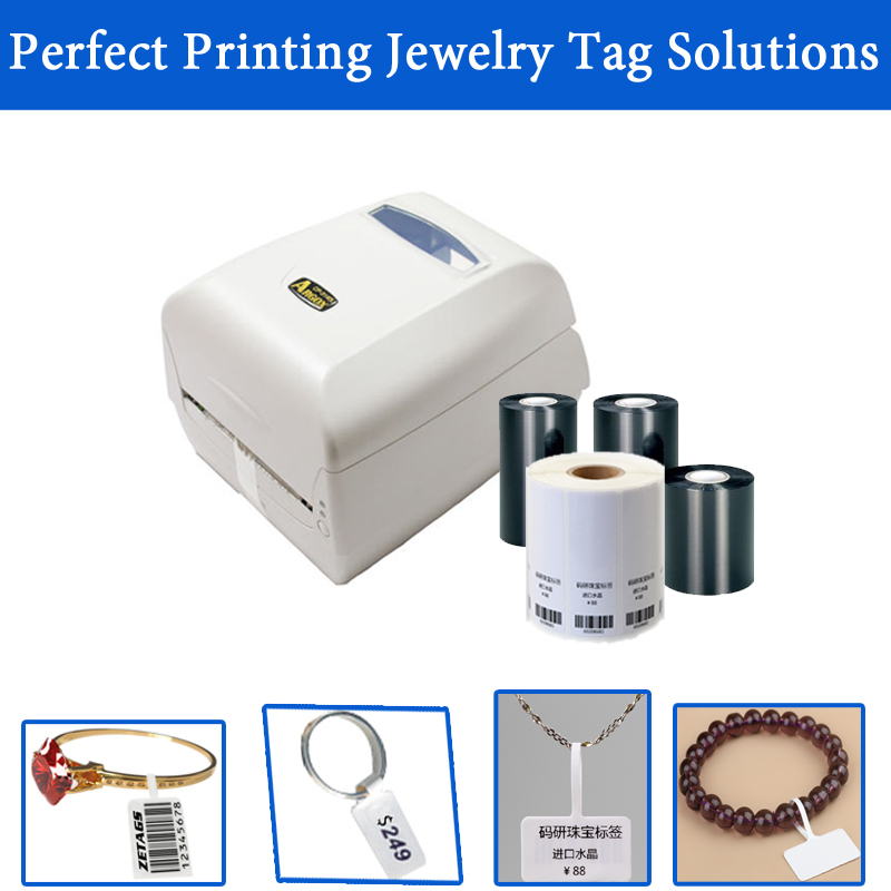 Good Quality Jewelry Tags Set 1 Warranty No Ink Label Printer Jewelry Tags Shelf Life 10 Years With Free Software