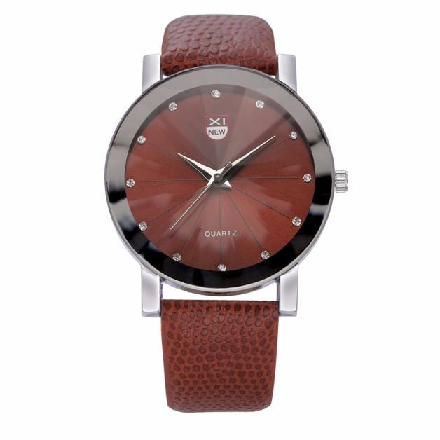 Diamond Dial Watches Mens,Luxury Design Stainless Steel Quartz Wrist Watch Men Sports Leather Military Watch Women dropshipping