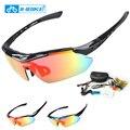 Inbike ciclismo gafas polarizadas uv prueba 5 lente de 3 colores marco de la bicicleta de la bici gafas de sol gafas de las 619
