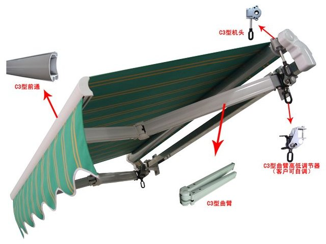Basic Heavy Duty Retractable Awning In Awnings From Home Garden On