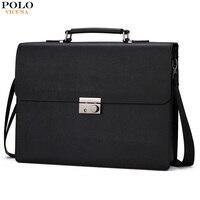 VICUNA POLO New Arrival 2017 Business Mens Briefcase Unique Anti Theft Lock Male Laptop Bag Bolsa