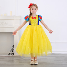 Children Halloween Clothing Snow White Cosplay Dresses Girls Prom Princess Dress Kids Birthday Gifts Baby Party Clothes Fancy