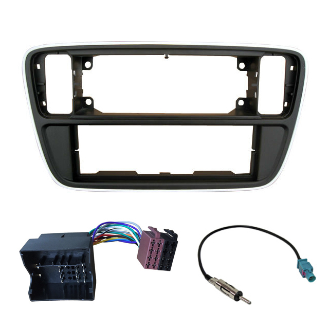 Single Din Car Dash Kit Harness Antenna for Volkswagen up! Skoda Citigo; Seat Mii 2012+ Frame Radio Panel Fascia Facia Plate-in Fascias from Automobiles & Motorcycles