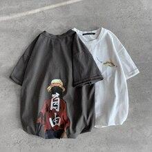 One Piece Print Short Sleeve Casual T Shirt