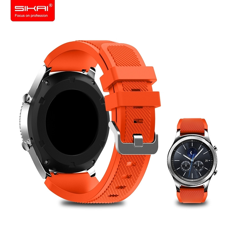 SIKAI 22mm Sillicone Bracelet For Ticwatch Pro Washable Band For Ticwatch Pro Samsung Gear S3 Huawei GT Magic Amazfit GTR 47mm