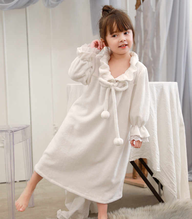 a9607ba1b8 ... Family Pajamas Matching Mother Daughter Flannel Dresses Girls Nightgown  Outfits Mommy and Me Winter Clothes Mom ...