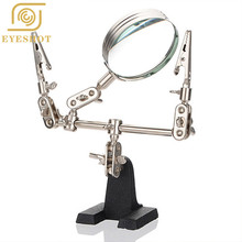 Magnifying Glass New Third Hand Soldering Iron Stand Helping Clamp Vise Clip Tool Glass Jeweler Loupe