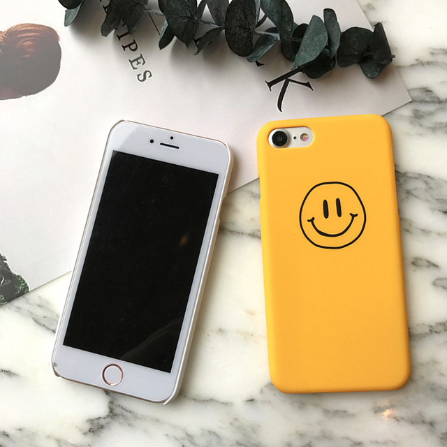 Simple Smiling Face Phone Case For iPhone