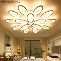 Modern ceiling lamp for Living Room Bedroom lamp Minimalism Acrylic dinner Room chandelier light indoor home Dimming light white
