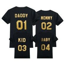 T-shirt d'été à la mode pour la Famille, vêtements pour l'extérieur, avec numéros imprimés, tenues assorties pour la Famille