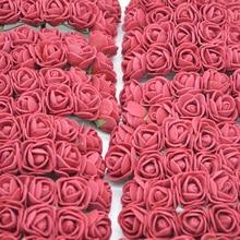 36/72/144 шт. 2 см Декоративные Teddy Bear розы из вспененного полиэтилена, искусственный цветок розы Букет для дома Свадебные украшения DIY ВЕНОК в форме искусственных цветов