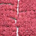 36/72/144 шт 2 см декоративный плюшевый мишка Роза ПЭ пена искусственный цветок букет для домашнего свадебного украшения DIY ВЕНОК поддельный цве...