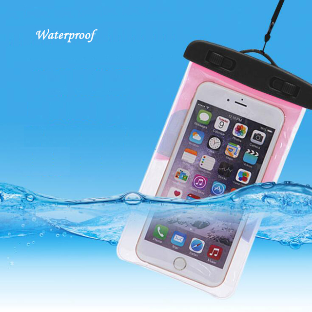 Swimming Pool Accessories Waterproof Cell Phone Bag Outdoor Snorkeling Drifting Portable Universal Case