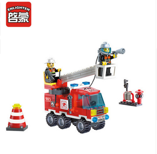 Enlighten Models Building toy Compatible with Lego E903 130pcs Fire Fight Blocks Toys Hobbies For Boys Girls Model Building Kits