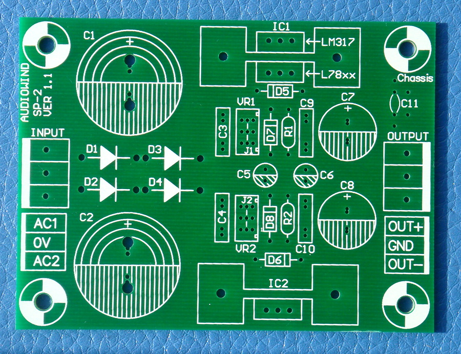 Voltage Regulator PCB for LM317 LM337 or 78xx 79xx IC. partes del cable coaxial