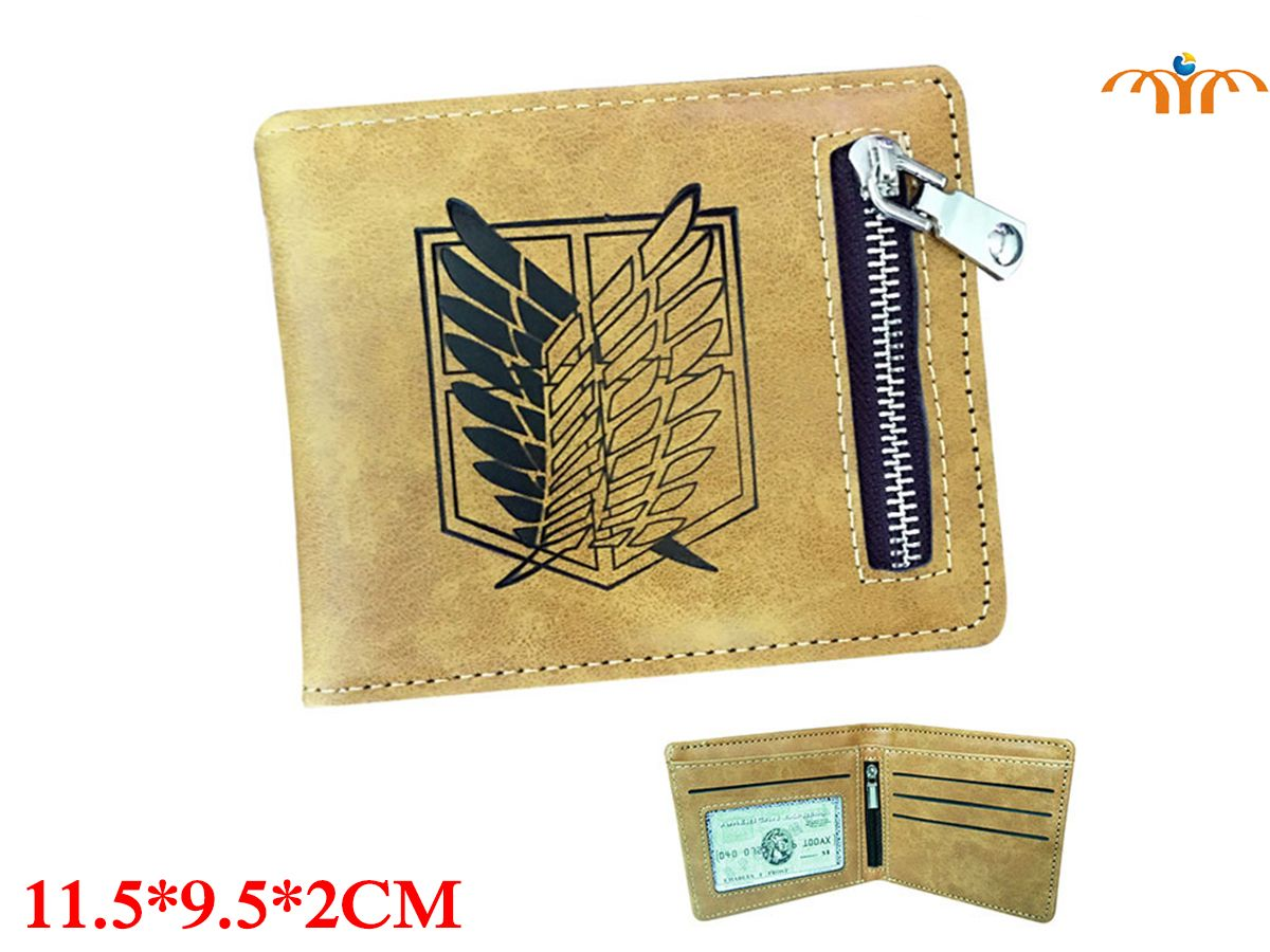 Shingeki no Kyojin / Attack on Titan Anime PU Leather Wallet Fashion Coin Pocket Card Holder Anime Peripheral Product