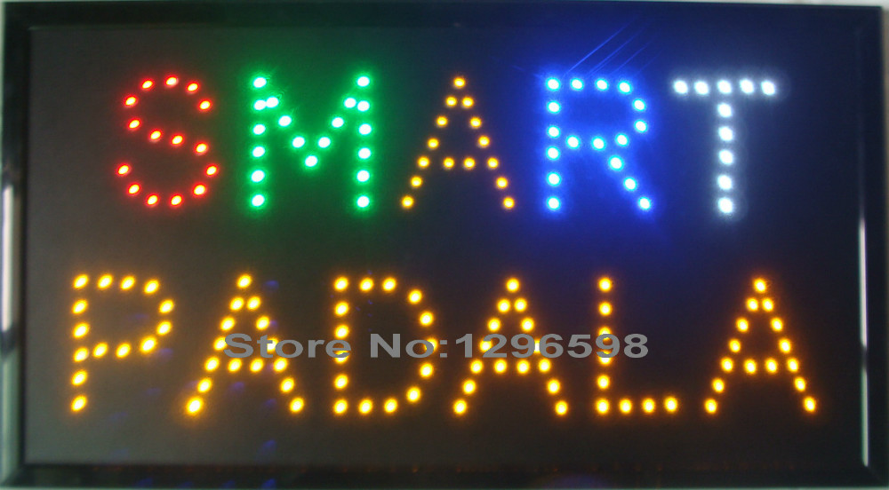 2017 custom your own design hot sale graphics 24x13 Inch indoor ultra bright smart padala open neon sign of Led