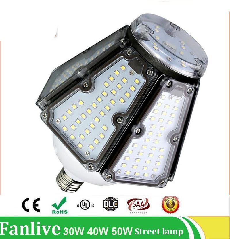 15PCS/LOT 30W 40W 50W E26 E27 E39 E40 road lamp led corn light Waterproof IP65 AC110v 220v Outdoor Industrial Warehouse light стоимость