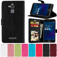 Flip Leather Case For Asus ZenFone 3 Max ZC520TL X008D Vintage Wallet Case Stand Cover PU+TPU Card Holder Bags For Asus 3 Max