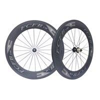 2017 FCFB F88 23mm Fastace RA209 Carbon Surface Road Tubular Wheel 88 88mm 700c Triathlon Carbon