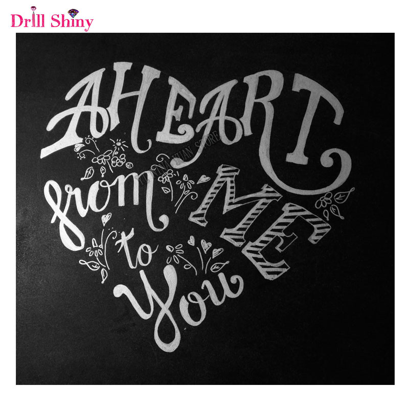 Love Words Quotes 5d Diy Diamond Painting Embroidery Mosaic Square