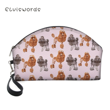 ELVISWORDS Makeup Bags With Funny Dogs Cats Pattern Printing Pretty Cosmetics Pouchs For Travel Ladies Pouch Women Cosmetic Bag