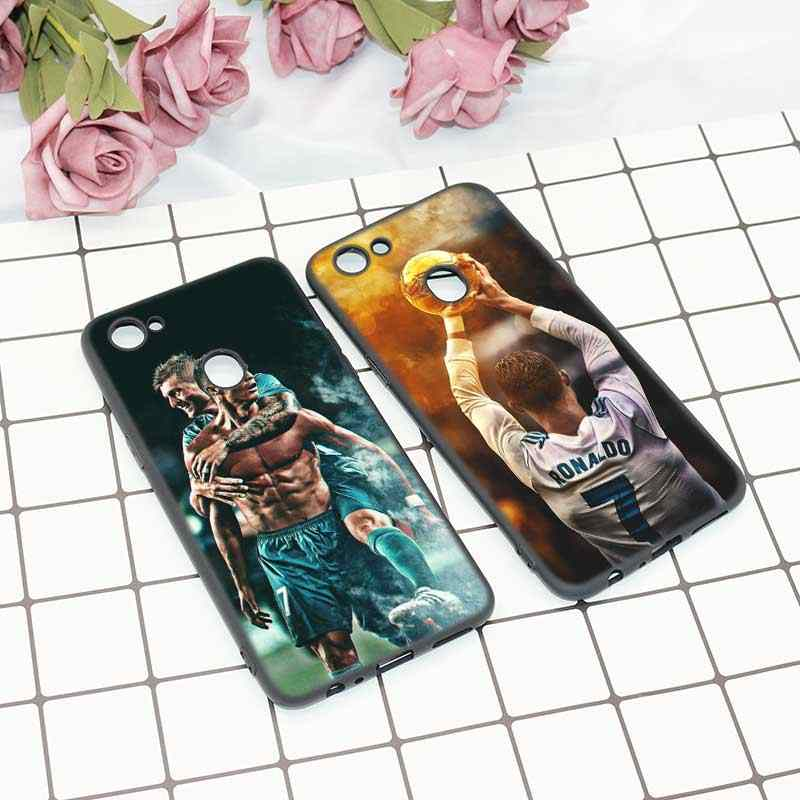 7b53b69a50 Black Soft Silicone High Quality Phone Case Cristiano Ronaldo CR7 Football  Style for OPPO F5 F7 Phone Cases Covers