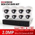 8 Canal 1080 P Vandal-Proof Dome Câmera HD CVI 8Ch DVR Kit HDCVI IR 10 m Ao Ar Livre de Vigilância de Segurança CCTV Câmera de 2.0MP sistema