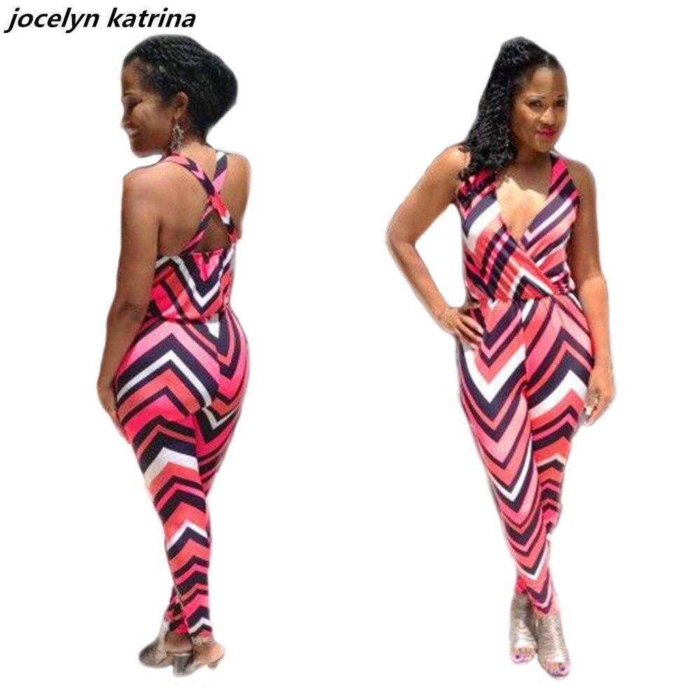 jocelyn katrina brand summer womens jumpsuits sexy long pant deep v neck sleeveless jumpsuit fitness romper bodysuits jumpsuit