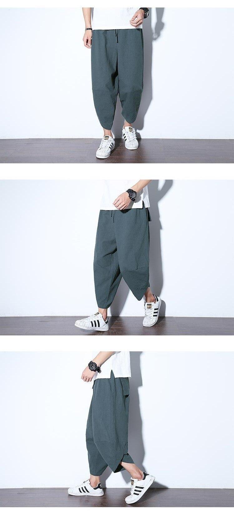 2019 Spring Loose Calf-length Pants Chinese Style Cotton Linen Trousers Jogger Pants Women M-xxxl Drawstring Streetwear Pants Home