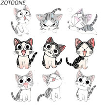 ZOTOONE Diy Patch Cute Animal Cat Iron on Patches for Clothing Heart Transfer Clothes Children T-Shirt Applique E