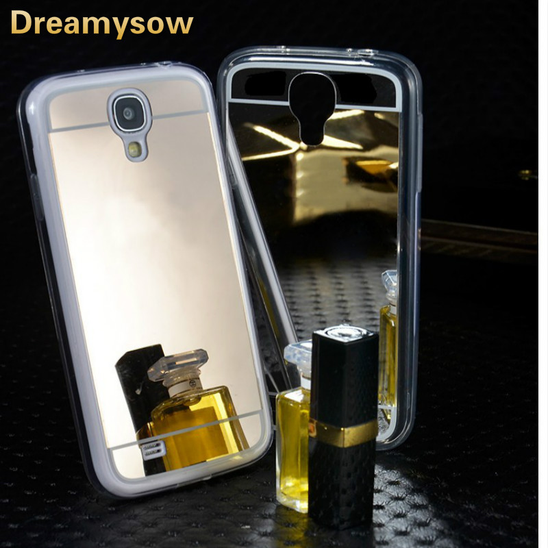Dreamysow Luxury Soft TPU Mirror Case For Samsung Galaxy S3 S4 S5 S6 S7 Edge Plus A310F A510F A5 A7 J5 J7 Note 3 4 5 Back Cover