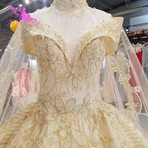Image 1 - Aijingyu princesa vestidos de casamento sexy pêssego recepção glitter vestido de casamento curto