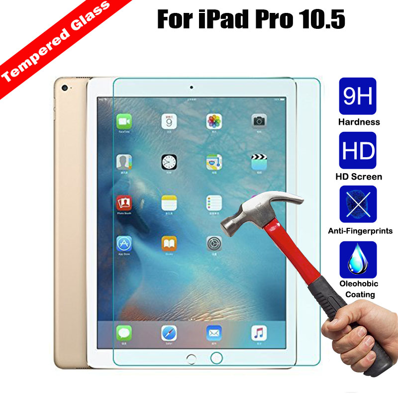For iPad Pro 10.5 inch Tablet 9H Explosion Proof No Fingerprint Guard Ultra-thin Tempered Glass Screen Protector Protective Film