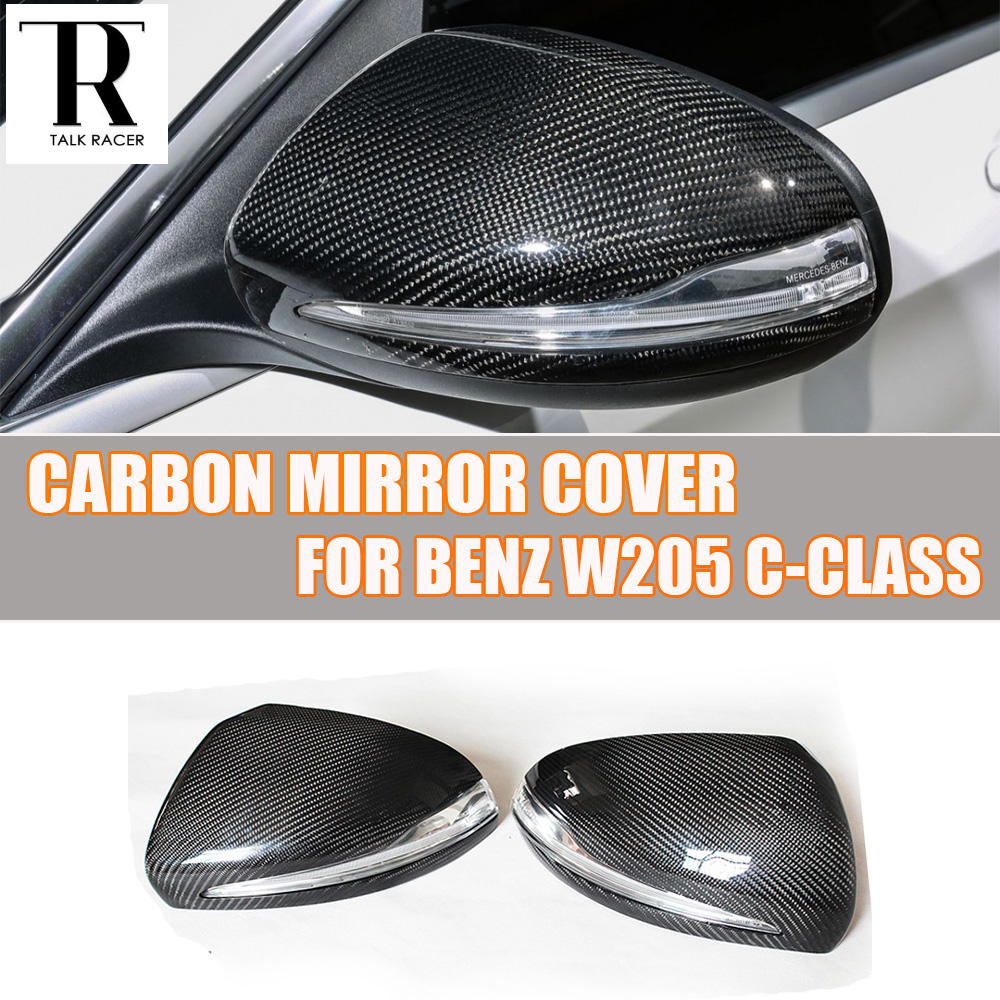 W205 W222 Carbon Fiber Replaced Style Rear View Side Mirror Cover Cap for Mercedes Benz W205 C200 C220 C250 C300 W222 S-class carbon fiber w205 car side mirror box cover shield fit for benz w205 left driving 2014up