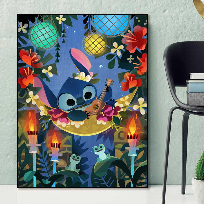 Captain Gantu LILO dan Stitch Wallpaper HD Dinding Art Poster Cetak Lukisan Dinding Gambar untuk Ruang.jpg q50