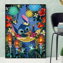 Lilo And Stitch Wallpaper HD Wall Art Canvas Posters Prints Painting Wall Pictures For Living Room Modern Home Decor Accessories 2pic set paris city landmarks and cars modern painting hd prints on canvas wall art for living room canvas printings home decor