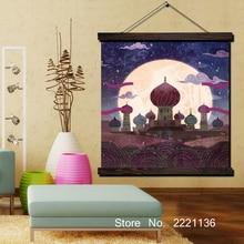 Arabien Nights Clipart HD Print Scroll Paintings Wall Art Printed Hanging Framed Canvas Painting