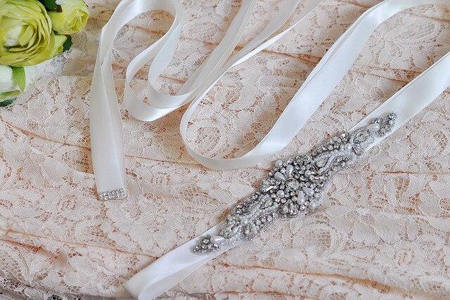 TOPQUEEN 29 Free shipping cheap Wedding Belt Crystal Rhinestone Bridal Sash Dress Accessories