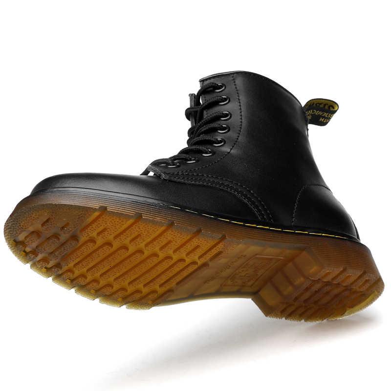 נשים מגפי אופנה עור נעלי אישה גודל 35-45 אופנה קרסול עור מגפי מרטינס מגפי נשים נעלי אוקספורד נעלי botas mujer