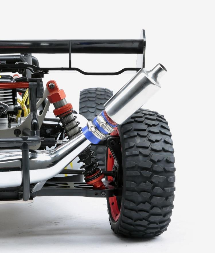 Exhaust Tuned Pipe Muffler Silencer for 1/5 HPI KM Rovan Baja 5B 5T 5SC 5SS Rc Boat Parts