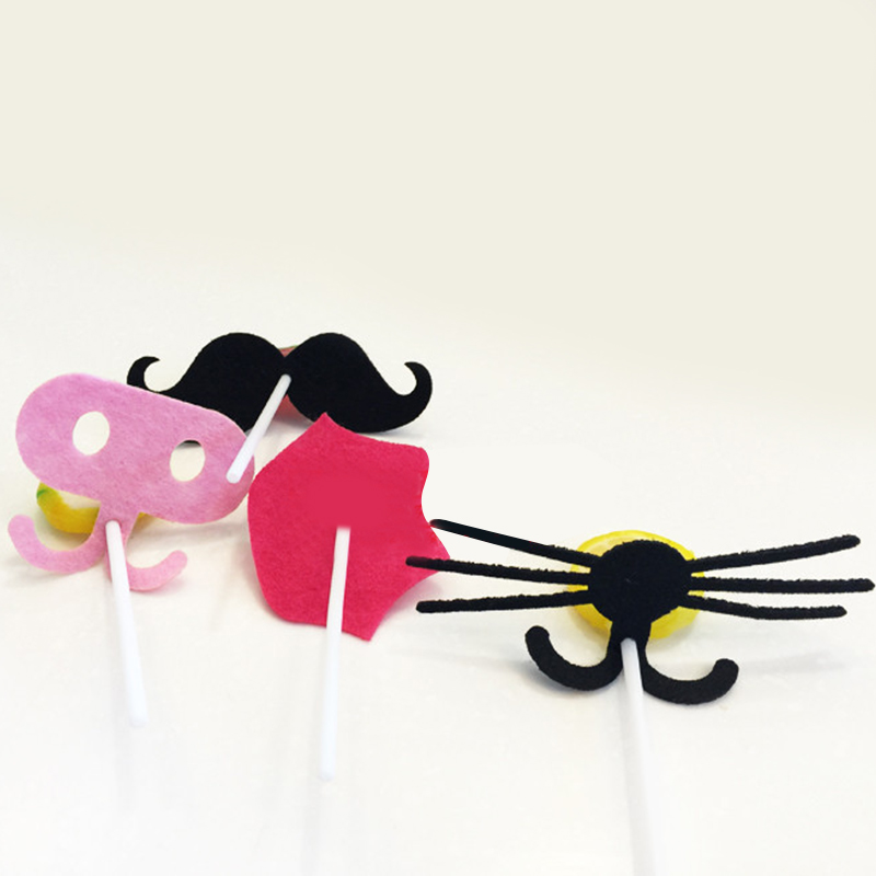 Funny Children Kids Photo Booth Prop On Stick Party Decorations Mustache Lips Christmas Wedding Birthday Party Accessories