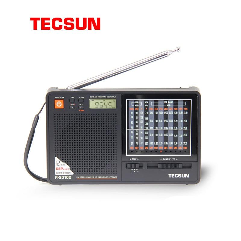 New Arrival Portable Tecsun R 2010D Full Band Radio Receiver Digital FM MW SW Radio With