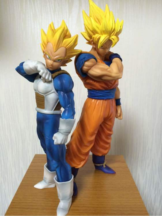 2Pcs/Set Dragon Ball Z Son Goku Fusion Gogeta Super Saiyan Awakening Gohan Trunks Father PVC Anime Figure DBZ Collection Model