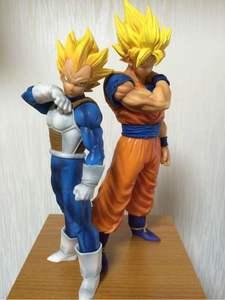 Image 1 - 2Pcs/Set Dragon Ball Z Son Goku Fusion Gogeta Super Saiyan Awakening Gohan Trunks Father PVC Anime Figure DBZ Collection Model