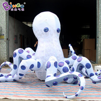 Customized 5 mts diameter big inflatable octopus decoration figure model inflatable toy