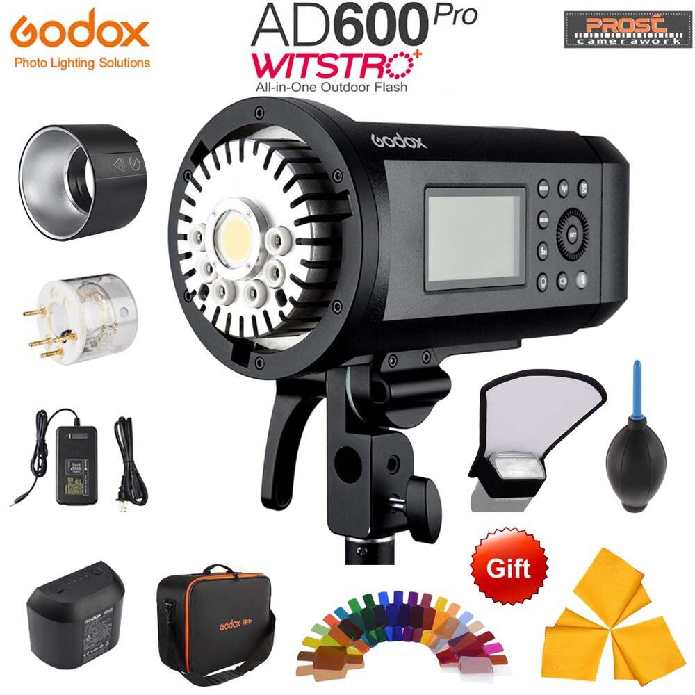 Aggiornamento Godox AD600Pro 600 w del Flash Esterno Li-on Della Batteria TTL HSS Built-In 2.4g Wireless X Sistema con xpro-C/N/S/F/O Trigger