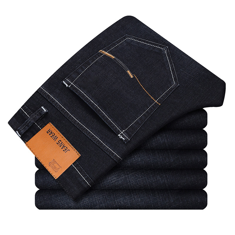Classic Straight cotton   Jeans   Men High Quality Brand Denim trousers soft mens pants 2019 Spring Autumn New Fashion Large Size 40